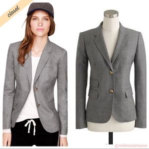 [J. Crew] Gray Wool Blend Schoolboy Blazer Jacket